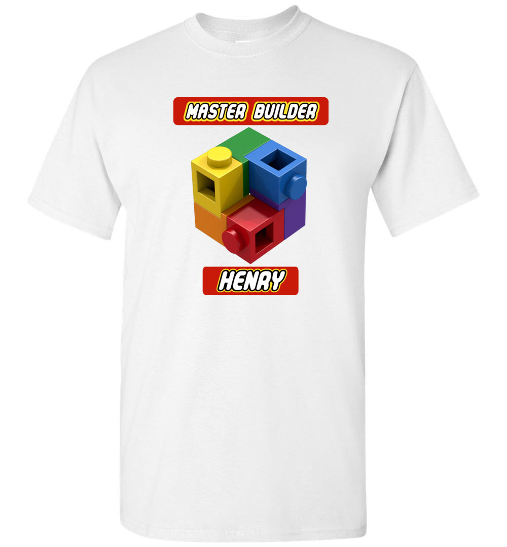 HENRY First Name Master Builder Brick Toy Fan TShirt Expert Tee