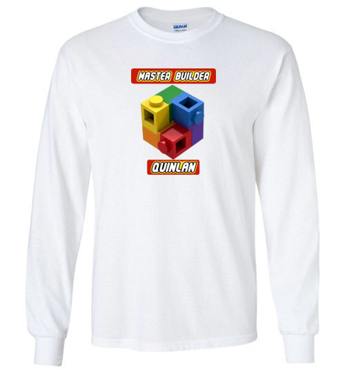 QUINLAN FIRST NAME EXPERT MASTER BUILDER YOUTH TSHIRT
