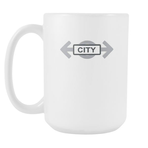 Toy Brick City Train Symbol Brick Toy Black Ceramic Graphic 15oz White Ceramic Mug