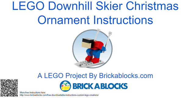Downloadable Instructions for a Miniature Downhill Skier Christmas Ornament