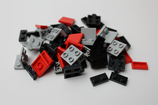 Red and Black Folding Fidget Cube Parts KIT, Built with Toy Bricks (Instructions download included)