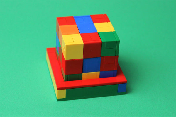 SOMA Cube 3D Puzzle Built with Toy Bricks