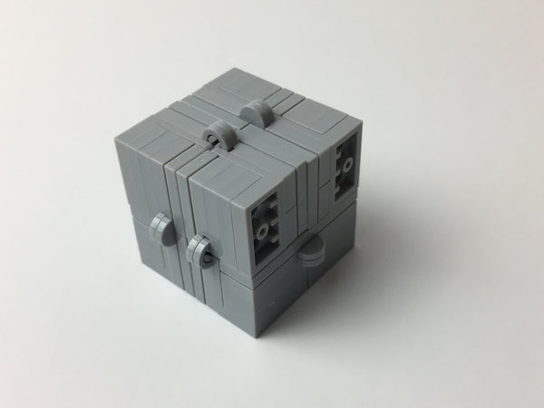Grey Folding Fidget Cube Parts KIT, Built with Toy Bricks (Instructions download included)