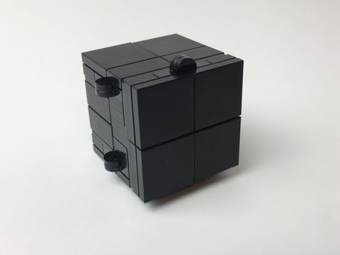 Black Folding Fidget Cube Parts KIT, Built with Toy Bricks (Instructions download included)