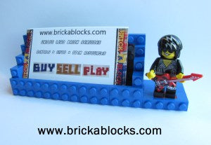 Downloadable Instructions for Building a Fathers Day Business Card Holder with Toy Bricks