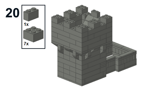Downloadable Instructions for Making a Toy Brick Dice Tower Castle