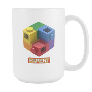 AFOL Brick Toy Expert LOGO 15oz White Ceramic Coffee Mug