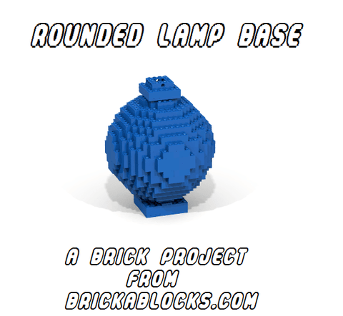 Downloadable Instructions for Building an Accent Table Lamp with Toy Bricks