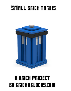 Downloadable Instructions for Building a Small Doctor Who TARDIS with Toy Bricks