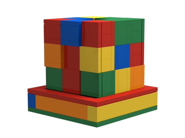 Downloadable Instructions for Building a SOMA Cube 3D Puzzle with Toy Bricks