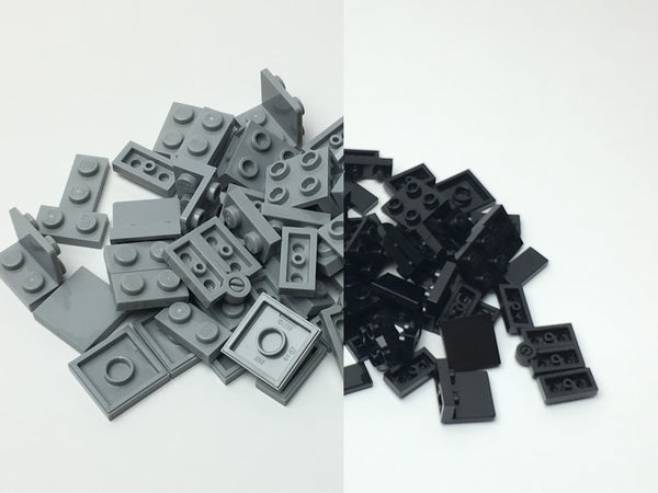 Black and Grey Folding Fidget Cube Parts KIT, Built with Toy Bricks (Instructions download included)