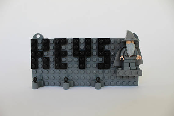 Toy Brick Key chain Organizer with Gandalf Minifigure