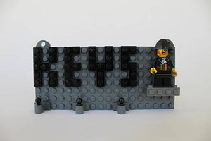 Toy Brick Pirates Keychain Organizer With Red Beard Pirate Captain Hook Minifigure