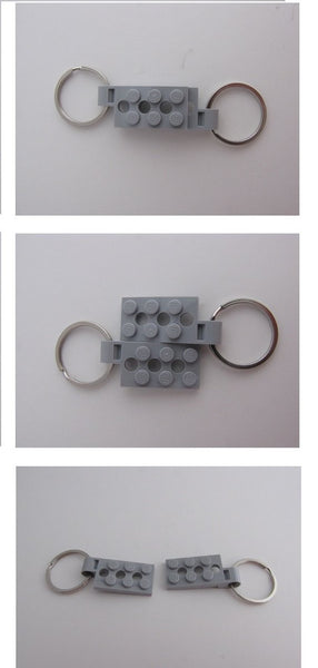 Toy Brick Key Organizer with 5 Key Chain and Carabiner Clip Pairs