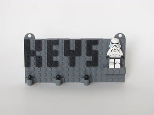 Toy Brick Key Organizer with Original Trilogy Storm Trooper Minifigure