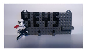Toy Brick Key Organizer With First Order Storm Trooper Minifig