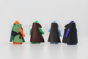 Pack of 4 Trench Coat Accessories with Collar For Brick Toy Mini figurines