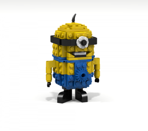 Downloadable Instructions for Building a YELLOW MINION with Toy Bricks
