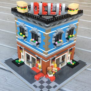 Downloadable Instructions for a Corner Deli and Apartment in the Modular Standard