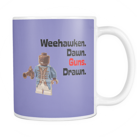 Toy Brick Aaron Burr Minifigure Weehawken Guns Drawn at Dawn 11oz Ceramic Mug