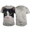 Tuxedo Black White Cat Big Face Hoodie