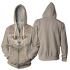 British Longhair Cat Big Face Hoodie