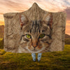 Tabby Cat Cat Face Hooded Blanket