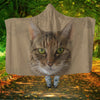European Shorthair Cat Face Hooded Blanket