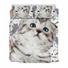 Scottish Fold Cat Kitten Bedding Set
