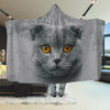 Scottish Fold Cat Face Hooded Blanket