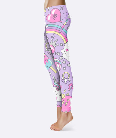 Caticorn Kitten Unicorn Leggings