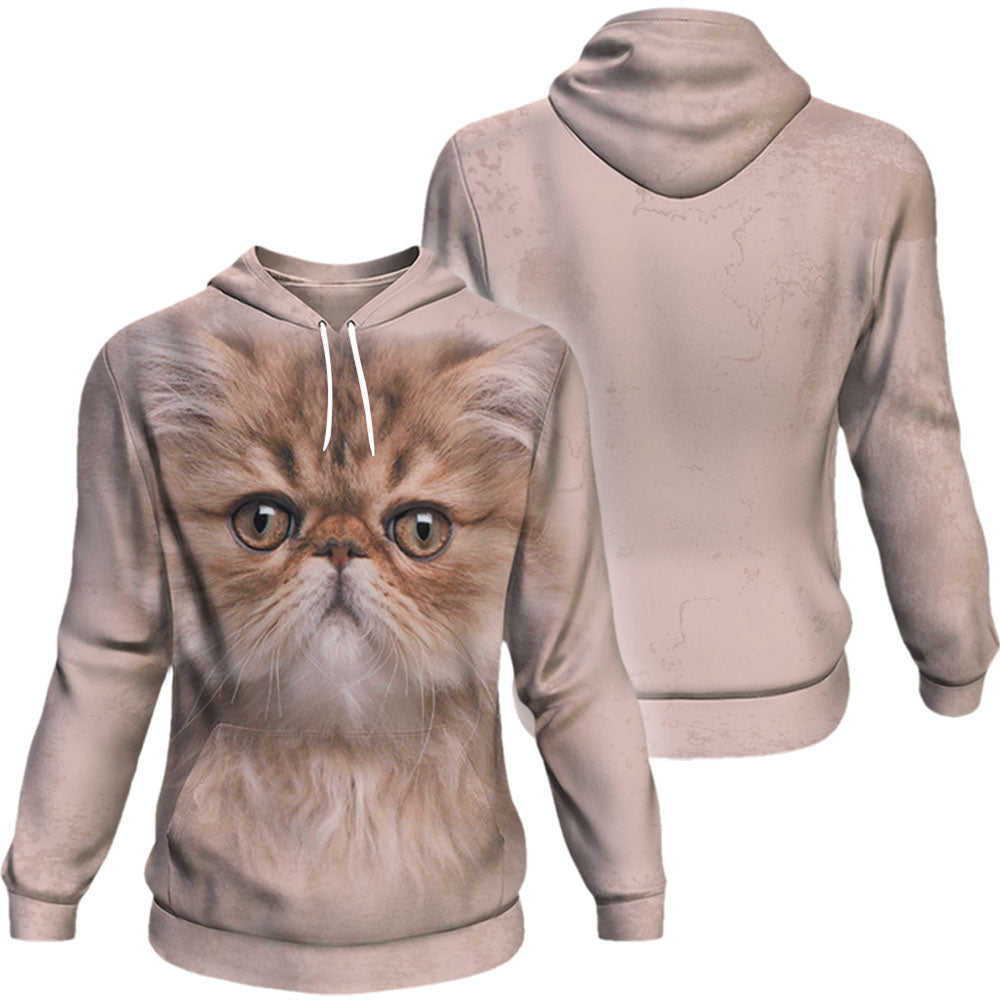 Persian Cat Big Face Hoodie