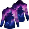 Cat Kitten Head Galaxy Space Hoodie