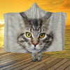 Maine Coon Cat Face Hooded Blanket