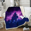 Cat Kitten Silhouette Galaxy Blanket