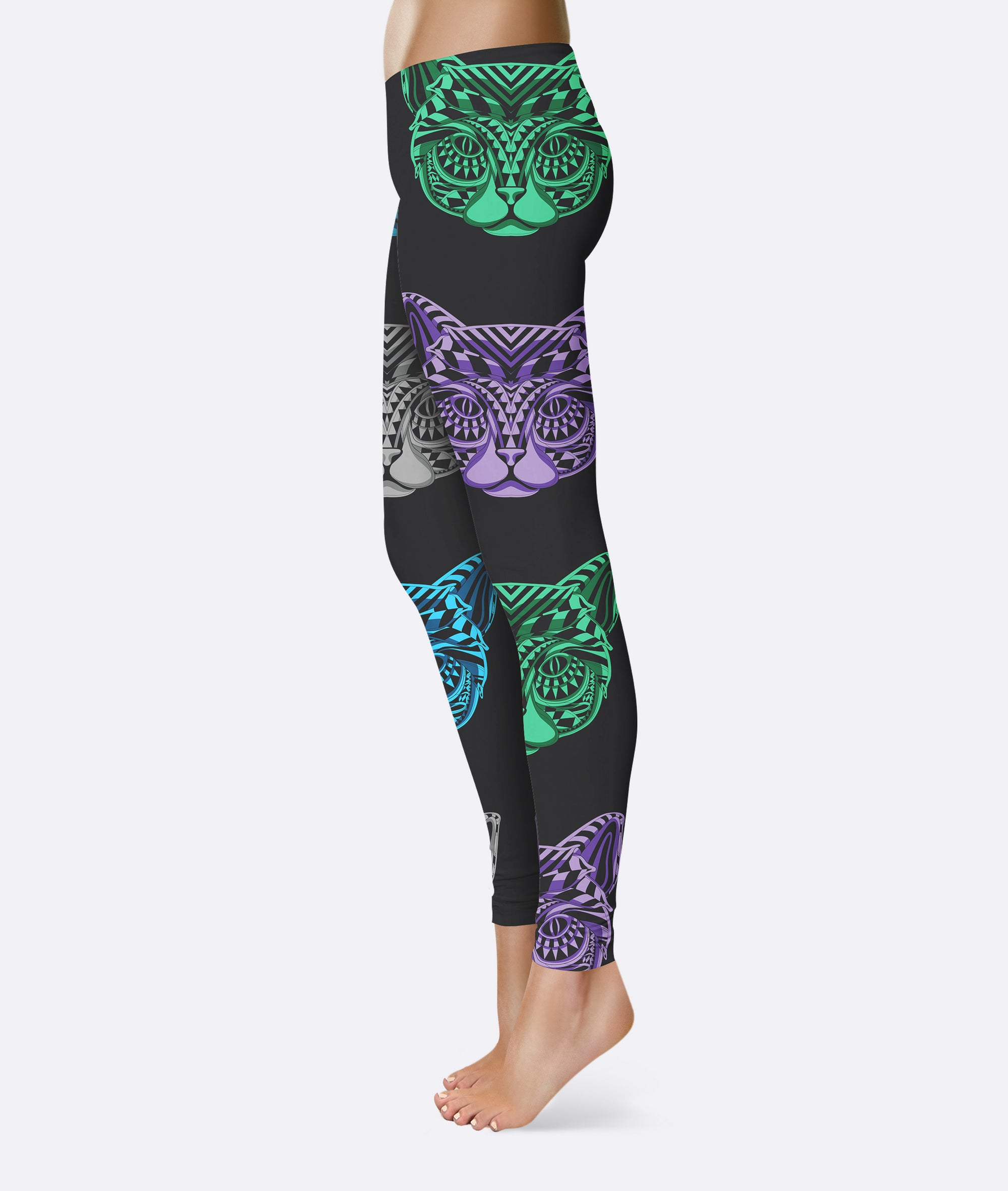 Tribal Cat Mask Leggings