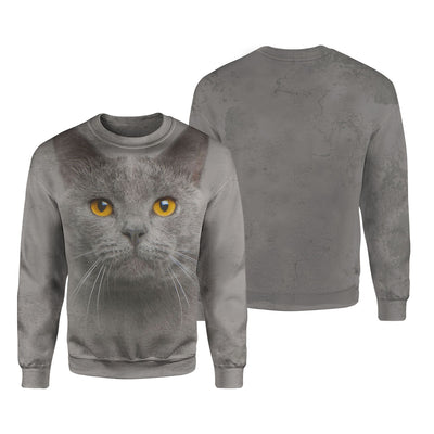 Chartreux Cat Big Face T-shirt