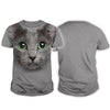 Russian Blue Big Face Hoodie