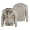 Norwegian Forest Cat Big Face Hoodie
