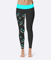 Cyan Cat Face Leggings