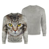 Maine Coon Cat Big Face Hoodie