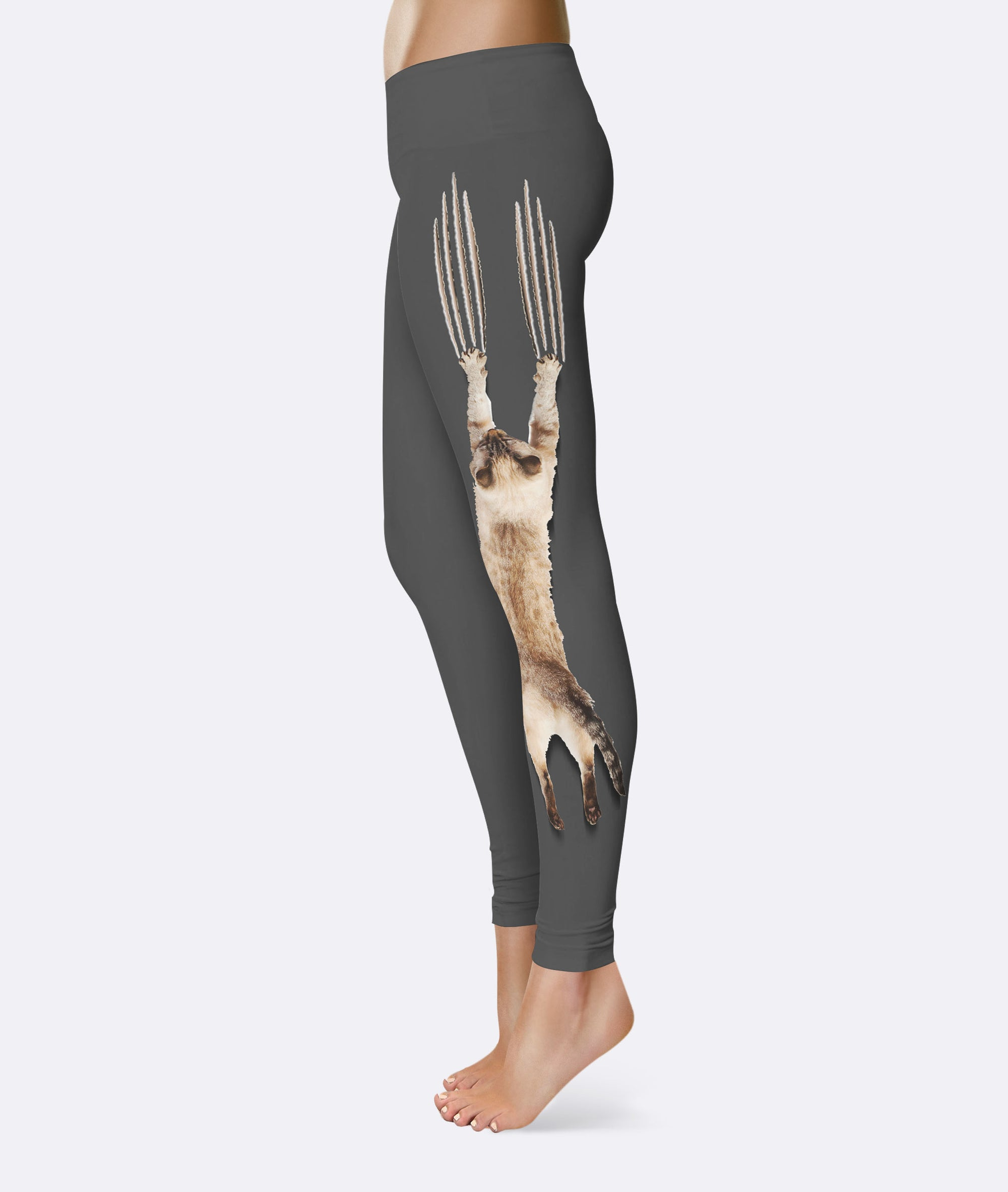 Cat Scratching Climbing Leggings