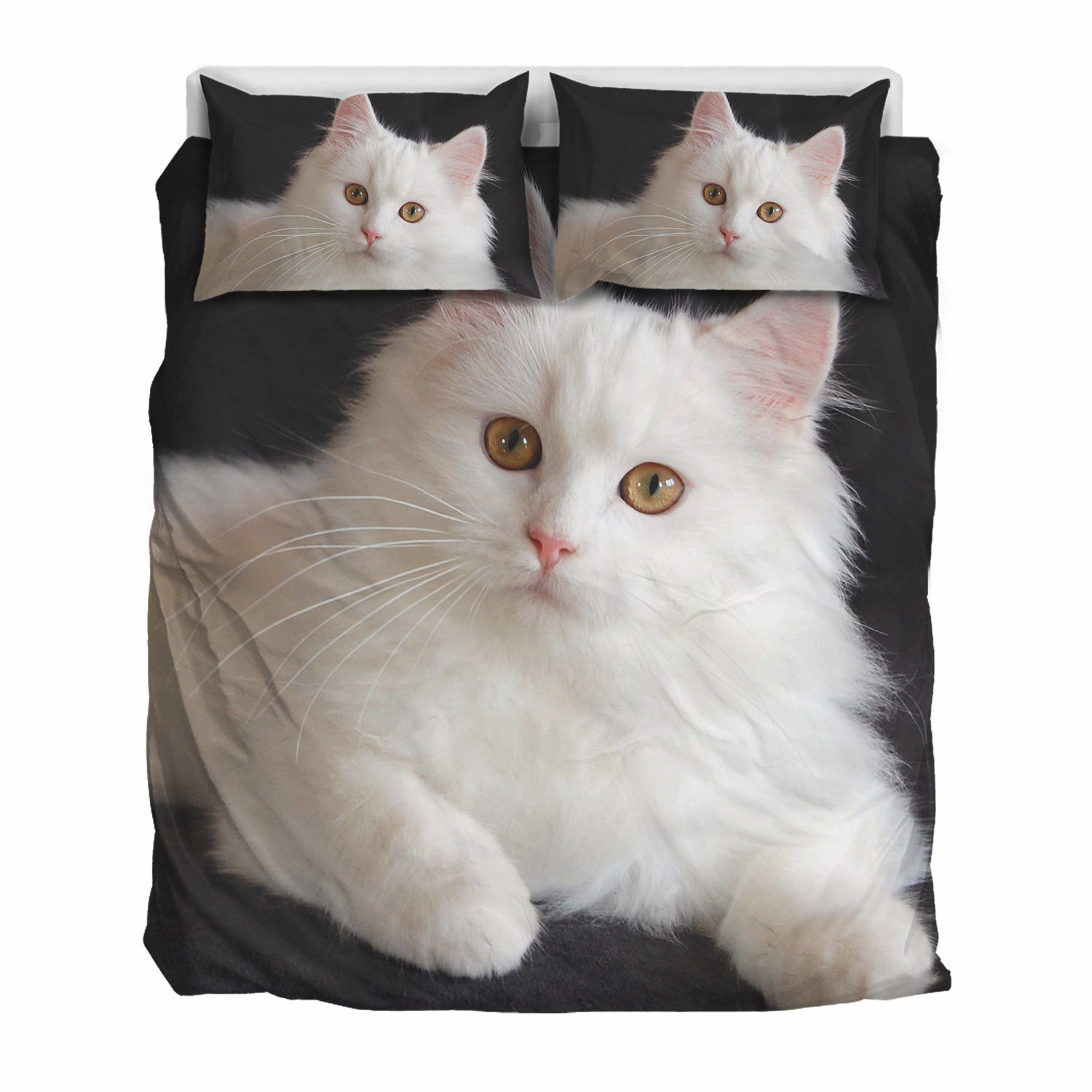 White Persian Cat Bedding Set
