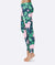 Happy Cat Green Leaf Pattern Leggings