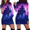 Cat Kitten Head Galaxy Space Hooded Dress