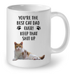 Orange Tabby Cat Dad Keep Up White Mug