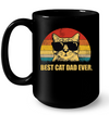 Best Cat Dad Ever Black Mug