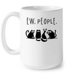 Ew People Cat White Mug