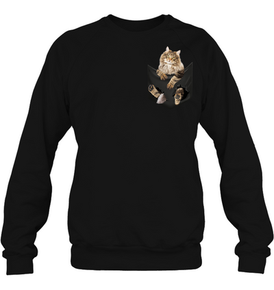 Norwegian Forest Cat In Pocket T shirt