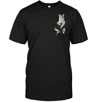 Egyptian Mau Cat In Pocket T shirt